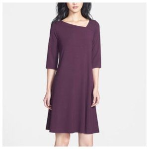 Eileen Fisher | Purple Asymmetrical Neck Dress